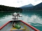Mit dem Boot auf dem Walchensee